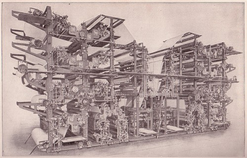 Double Octuple Newspaper Press  by Sue Clarke
