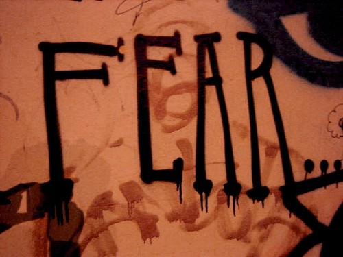 fear graffiti by By Jimee, Jackie, Tom & Asha