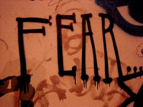 fear graffiti by By Jimee, Jackie, Tom & Asha