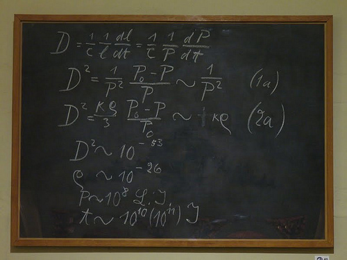 Einstein's blackboard